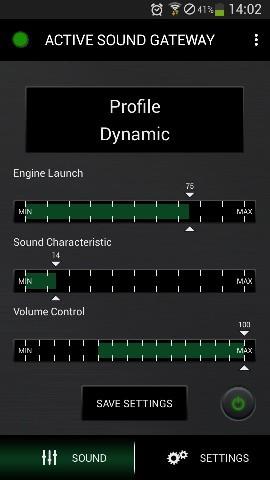 Active Sound Abgasanlage - Steuerung via Smartphone / WiFi