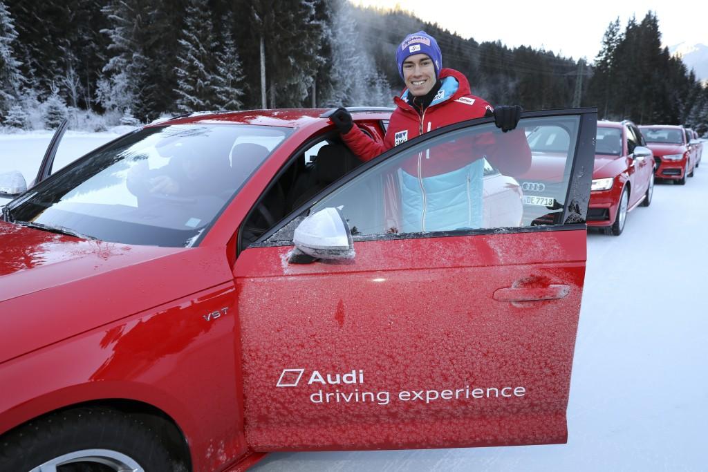 Skisprung-Elite bei Audi driving experience