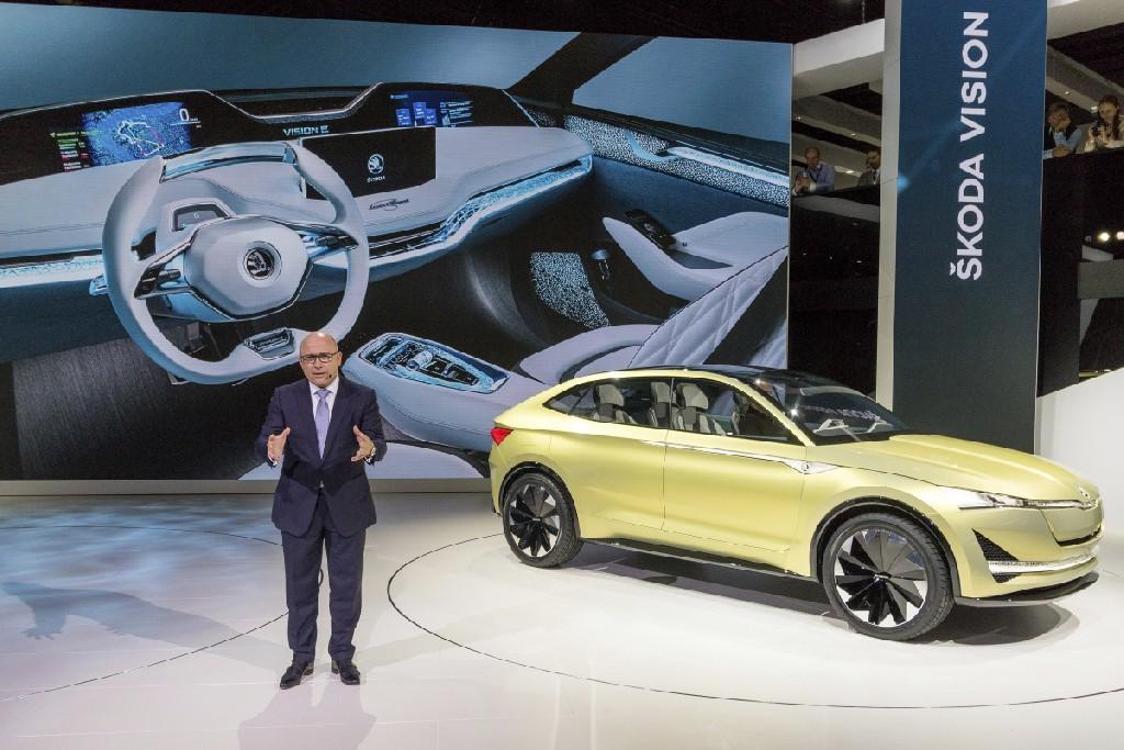 SKODA auf der IAA in Frankfurt mit drei attraktiven SUVs und der Studie VISION E