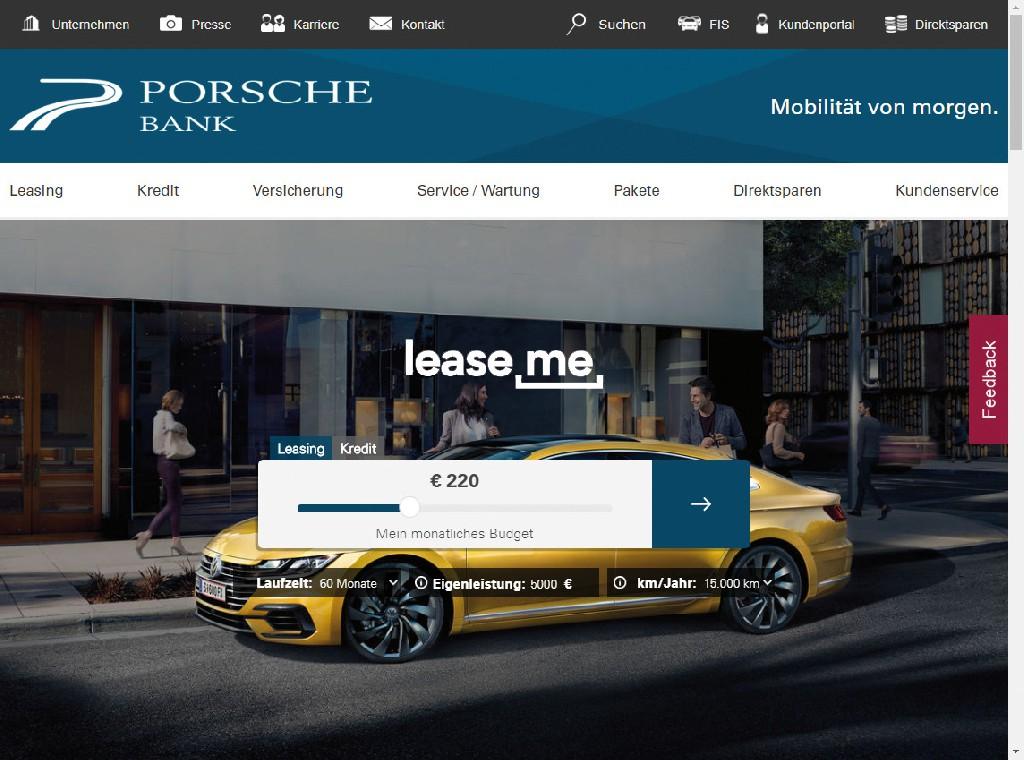 LEASE ME der Porsche Bank - ein Auto um jeden Preis!