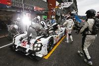 Rennsport extrem - drei Porsche 919 Hybrid in Le Mans