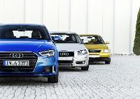 Audi A3: zwei Jahrzehnte, drei Generationen