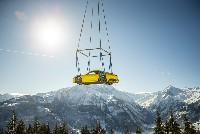 Präsentation der achten 911er Generation auf 1.408 Meter in den Alpen