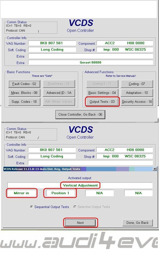 ACC Calibration / Adaptive Cruise Control / A4 A5 Q5 / Distronic