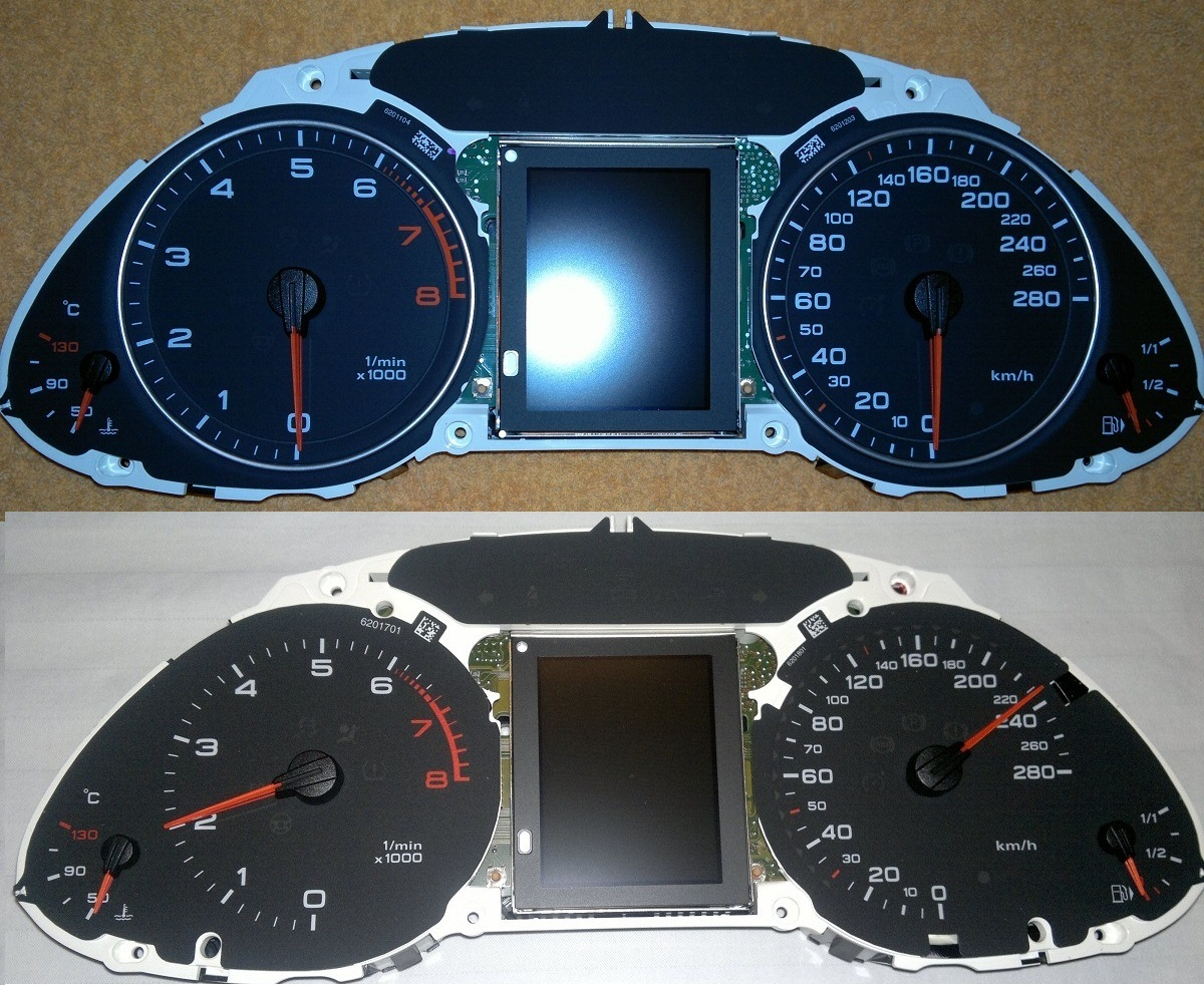 capacitor donor as well as donor of black gauge dash faceplate scaled in km housing 23 leds all which is different than the one on non acc ic