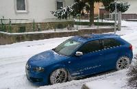 mit dem Audi S3 8P im Schnee gespielt