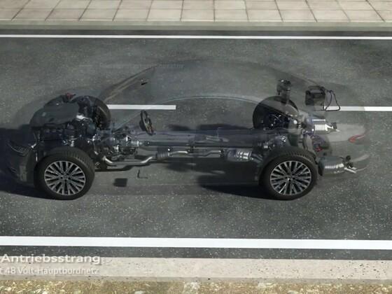 Audi A8 - Animation des neuen Aktiv Fahrwerk