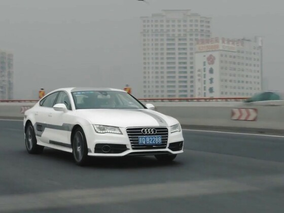 Audi A7 piloted driving in Shanghai