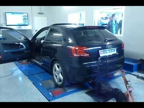 Audi A3 8P VFL auf dem Prüfstand