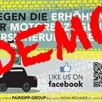 Demo gegen die Erhöhung der NOVA und motorbezogenen Versicherungssteuer