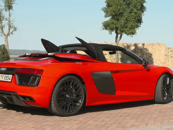 Audi R8 Spyder Fahraufnahmen