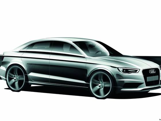 Designskizze Audi A3 Limousine
