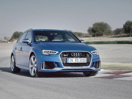 Audi RS3 Sportback 2017 - Fahrszenen und Detailaufnahmen