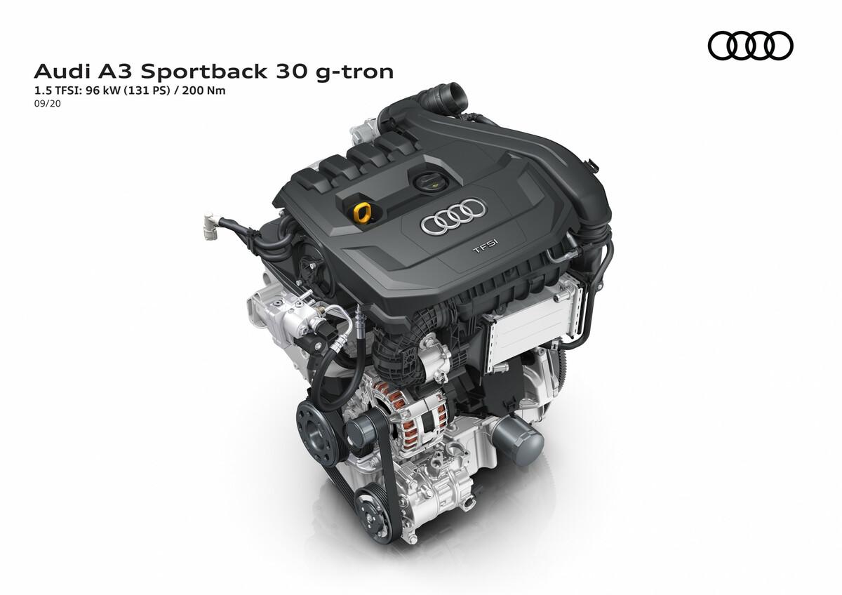 der Audi A3 g-tron 2020