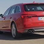 Audi A4 Avant Fahraufnahmen 2015