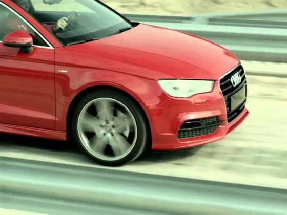 Audi A3 Limousine am Testtrack in Györ