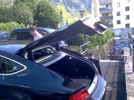 Audi A7 Sportback, elektrische Heckklappe per FFB öffnend und schließend