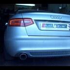 Audi A6 4F 3,0T selbst gebaute Auspuffanlage