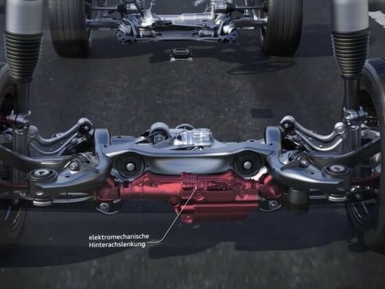 Audi A8 - die Dynamik Allradlenkung