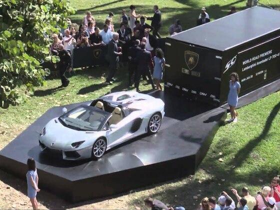 Lamborghini Aventador LP 700-4 Roadster Hochgeschwindigkeitstest in Miami