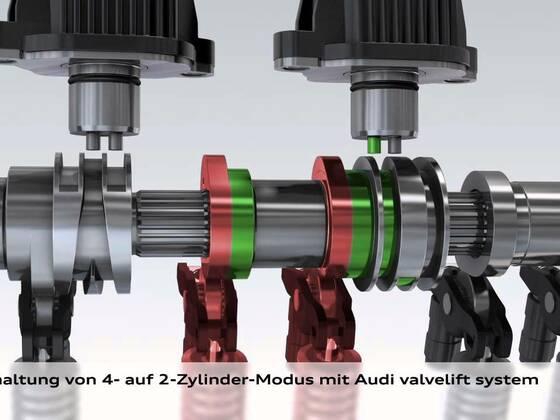 Audi Q3 cylinder on demand Animation